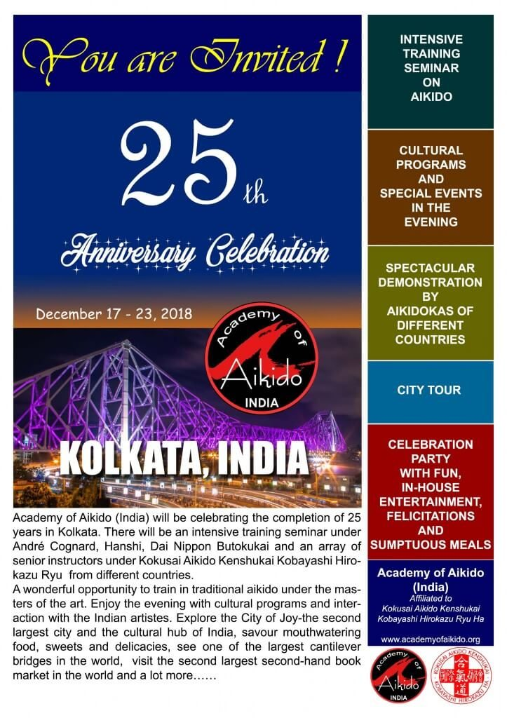 25 ans de l'Academy of Aikido (India)
